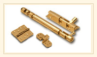 brass hinges and latches